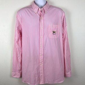 Ralph Lauren Pinstripe Oxford Shirt Pocket Logo XL